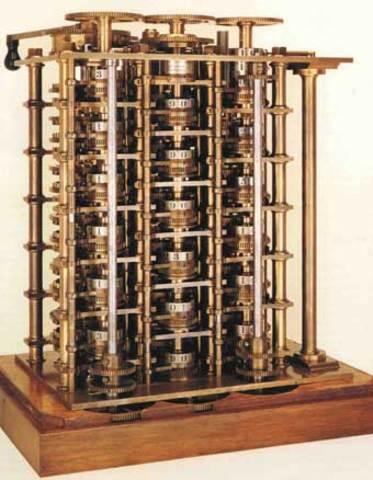 Maquina controlada por relojes charles Babbage