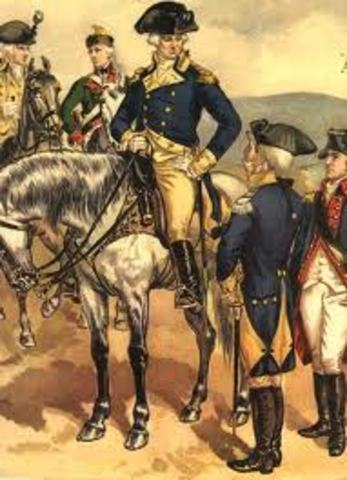 Serving in the Continental Army (start of civil war)
