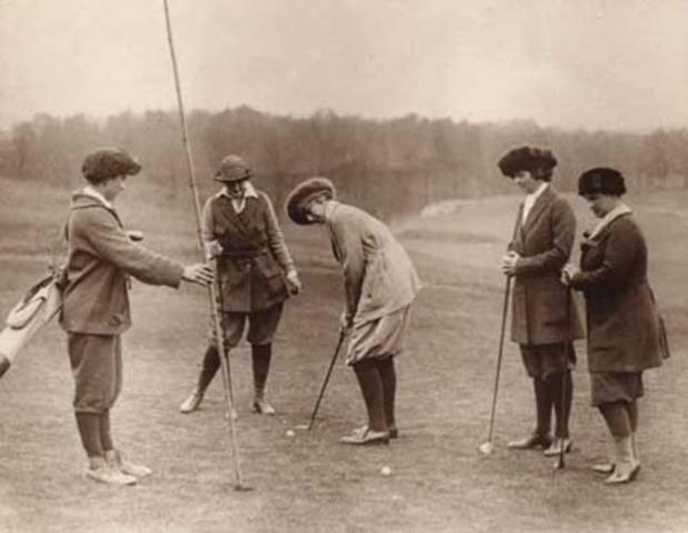 Llegada del golf a inglaterra