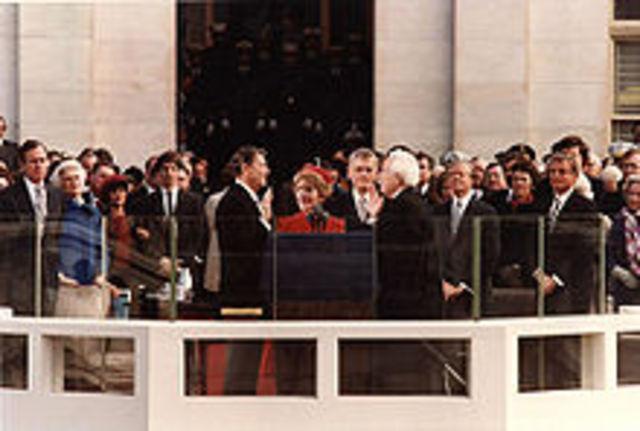 Inaugeration of Ronald Reagan