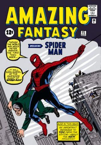 First appearance of Spider-Man in comics