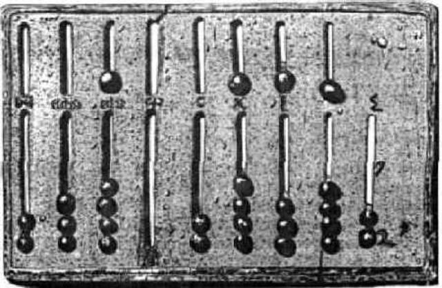 Ábaco (usado por los romanos en el siglo IV a. C)