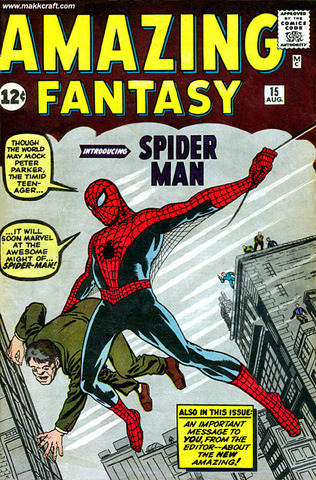 The first spiderman comic