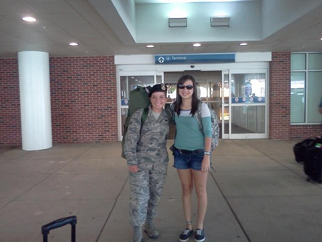My sister came home from Basic Training