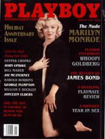 marilyn monroe como portada en la revista de playboy