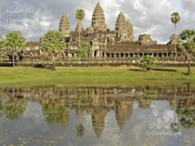 Khmer Empire expands and Angkor Wat is built.Buddhism becomes important
