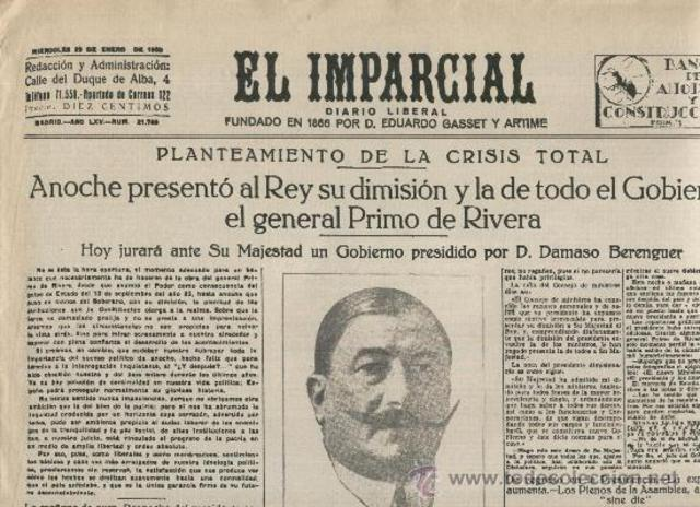 Dimisión de Primo de Rivera