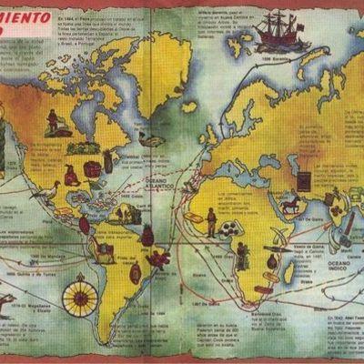 Exploradores portugueses y españoles siglos XV-XVI timeline