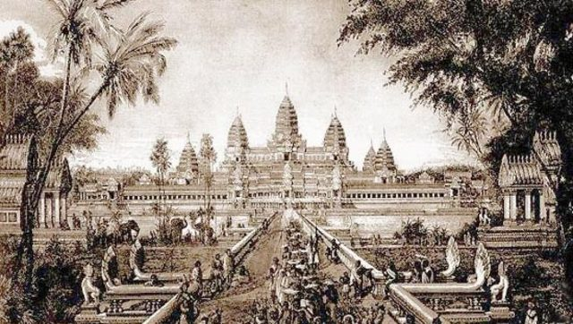 Khmer Empire comes to an abrupt end.