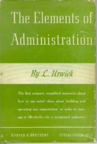 Elements of Administration