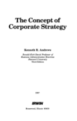 Concept of Corporate Strategy