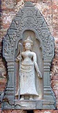 Indravarman died