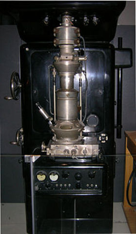 invention of the electrom microscope.