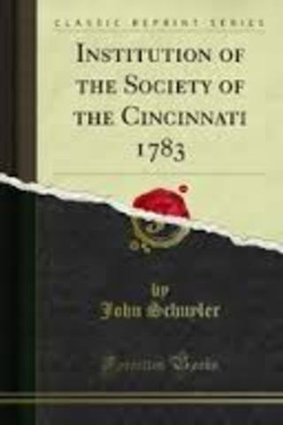 Society of the Cincinnati formed