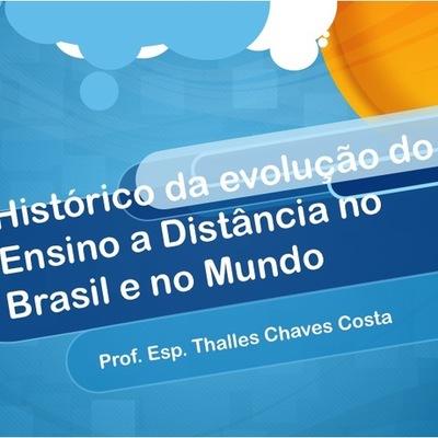 Histórico da evolução do Ensino a Distância no Brasil e no Mundo timeline