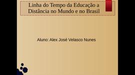 Linha do Tempo da Educação a Distância no Mundo e no Brasil. timeline
