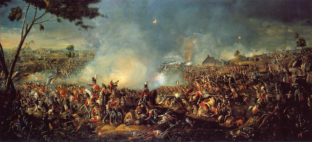 Napoleon is finally defeated at the battle of Waterloo