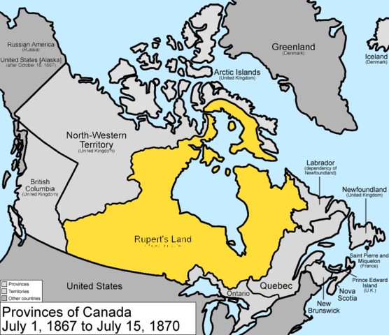 Map Of Canada July 1 1867.Canadian Confederation Timeline Timetoast Timelines
