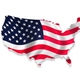 Usa flag map1
