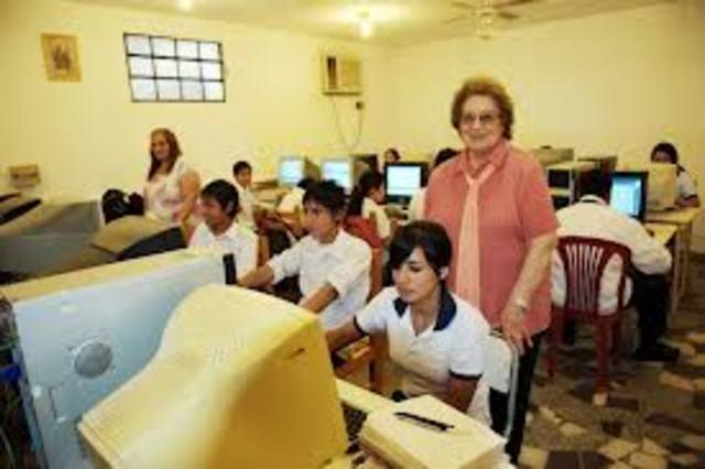 Clases de computación en la escuela