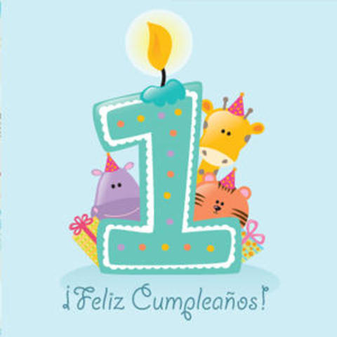Pablito celebra su primer cumpleaños.