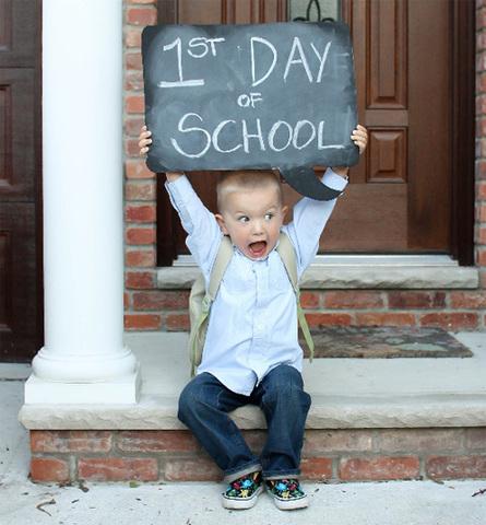 El primer día de colegio.