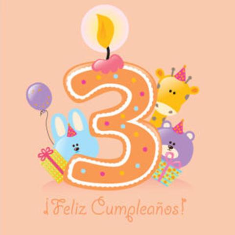 Su tercer cumpleaños.