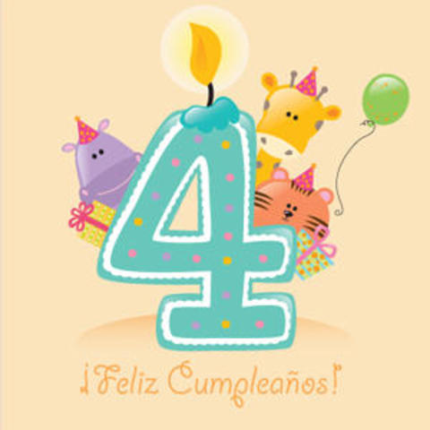 Celebración del cuarto cumpleaños.