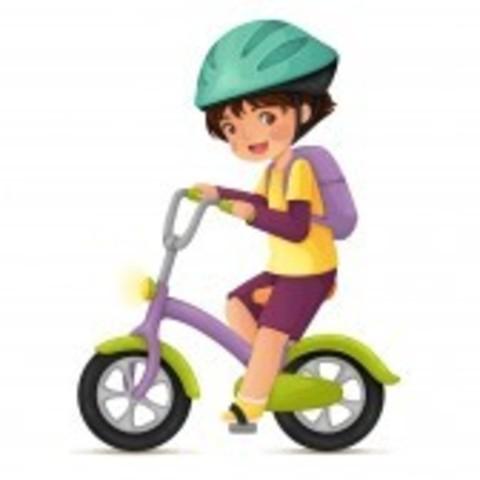 Aprende a montar en bici.