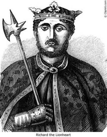 Richard the Lionhearted 1189
