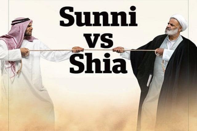 Split between Sunni and Shia