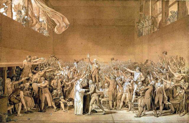 Revolución francesa.Juramento del juego de la pelota