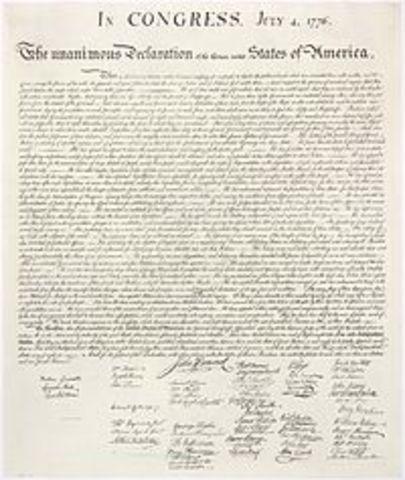 Declaración independencia norteamericana.