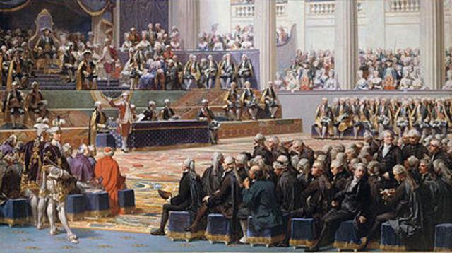 Luis XVI convoca los Estados Generales.