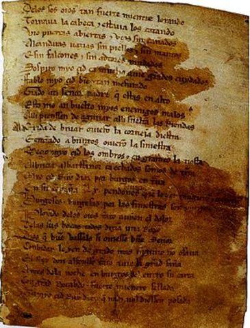 El Poema de Mio Cid puclicado en el año 1200