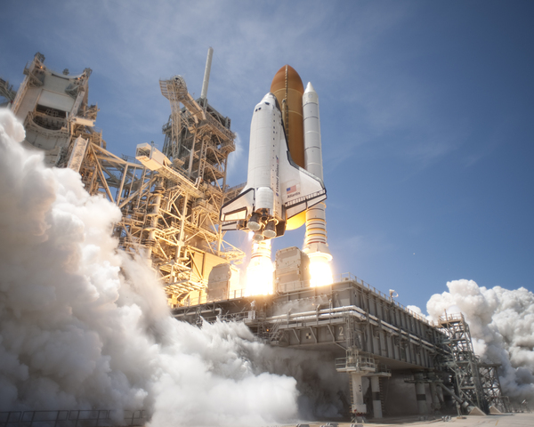 First Space Shuttle Launch