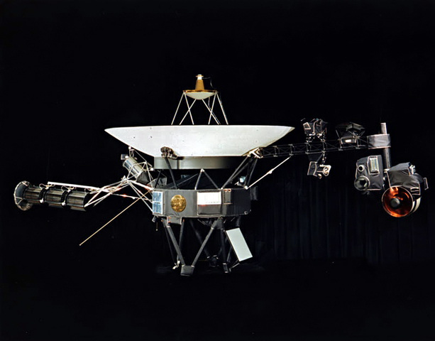 The Voyager 2 spacecraft arrives at Saturn and begins sending back images of the planet and its moons.