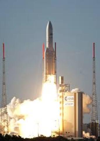 The ESA launches a fourth Ariane rocket.