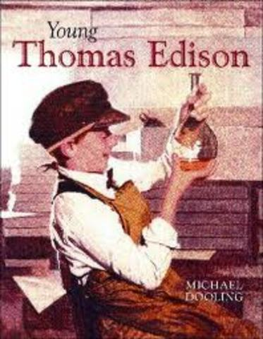 Edison left school and started being tutored by his mother at home.