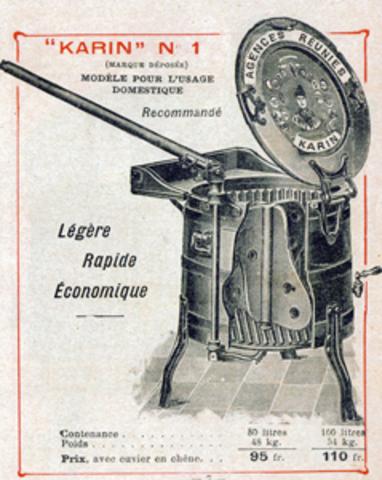 Les première machines a laver le linge en France