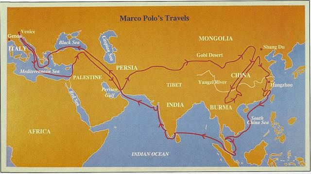 Marco Polo's Trip to China