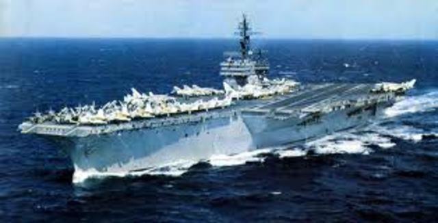 Visit to USS Kitty Hawk. Last voyage
