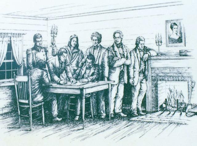 The Treaty of New Echota Signed
