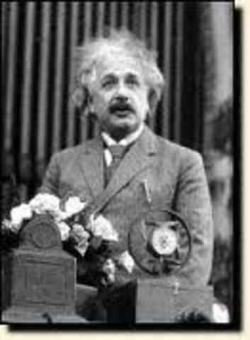 Einstein receives his first job