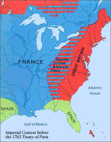Treaty Of Paris Map 1783.1763 1783 Timeline Timetoast Timelines