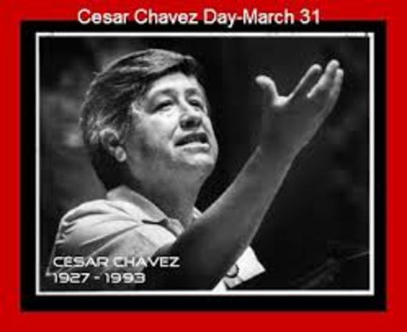 Cesar Chavez begins organizing the first farmworkers' union, which eventually establishes the first labor agreement with growers