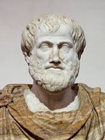 Aristotle and Democritus