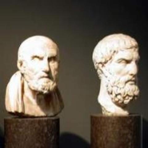 Aristotle and Democritus