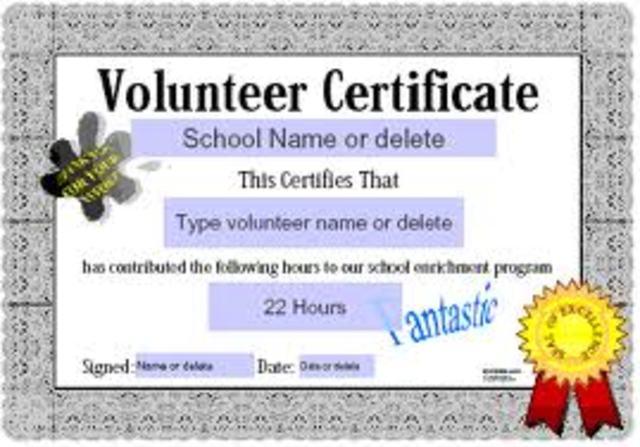 Community Volunteer Award