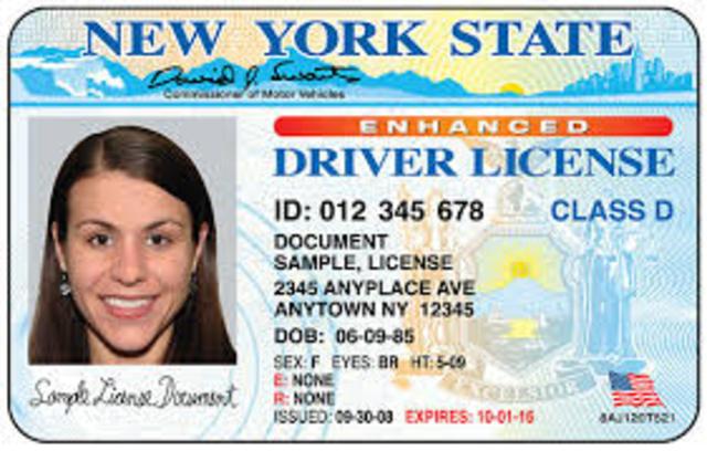 Recieve Drivers License